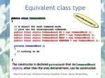 equivalent class type