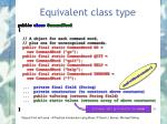 equivalent class type1
