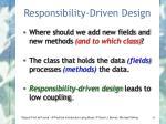 responsibility driven design