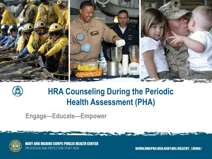 hra counseling during the periodic health assessment pha n.