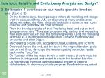 how to do iterative and evolutionary analysis and design2