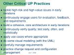 other critical up practices