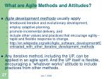 what are agile methods and attitudes