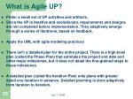 what is agile up1