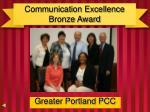 communication excellence bronze award