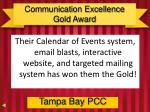 communication excellence gold award1