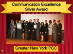 communication excellence silver award