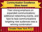 communication excellence silver award1