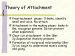 theory of attachment