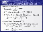 gaussian distribution and clt