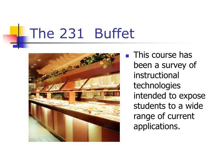 The 231 buffet1