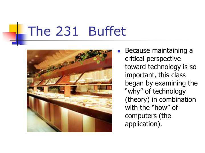 The 231  Buffet