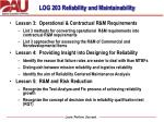 log 203 reliability and maintainability2