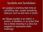 symbols and symbolism