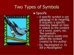 two types of symbols1
