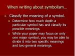 when writing about symbolism3