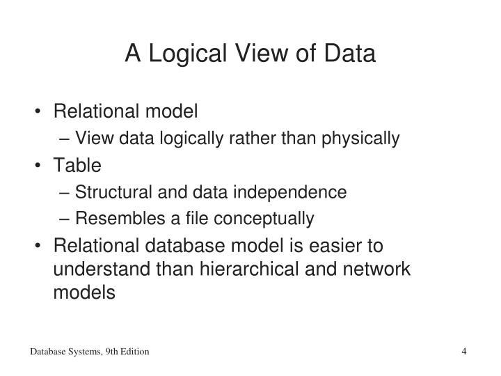 A Logical View of Data