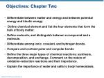 objectives chapter two