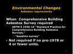 environmental changes asbestos requirements