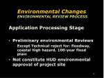 environmental changes environmental review process