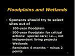 floodplains and wetlands1