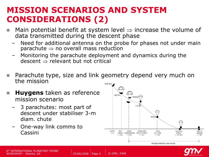 MISSION SCENARIOS AND SYSTEM CONSIDERATIONS (2)