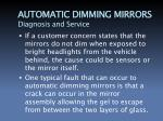 automatic dimming mirrors diagnosis and service