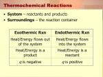thermochemical reactions