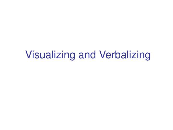 visualizing and verbalizing n.