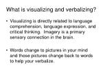 what is visualizing and verbalizing