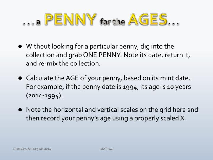 a penny for the ages n.
