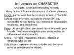 influences on character