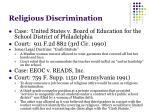 religious discrimination1