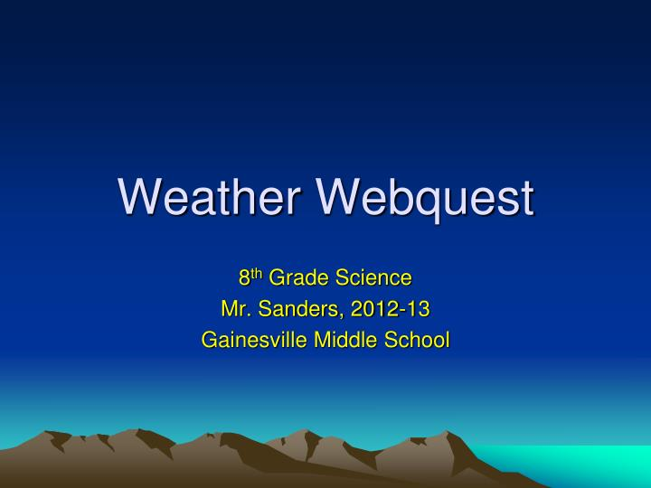 weather webquest n.