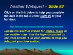 weather webquest slide 3
