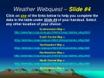 weather webquest slide 4