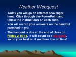 weather webquest1