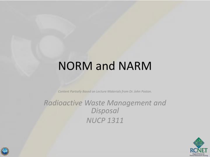 norm and narm n.
