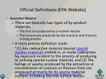official definitions epa website
