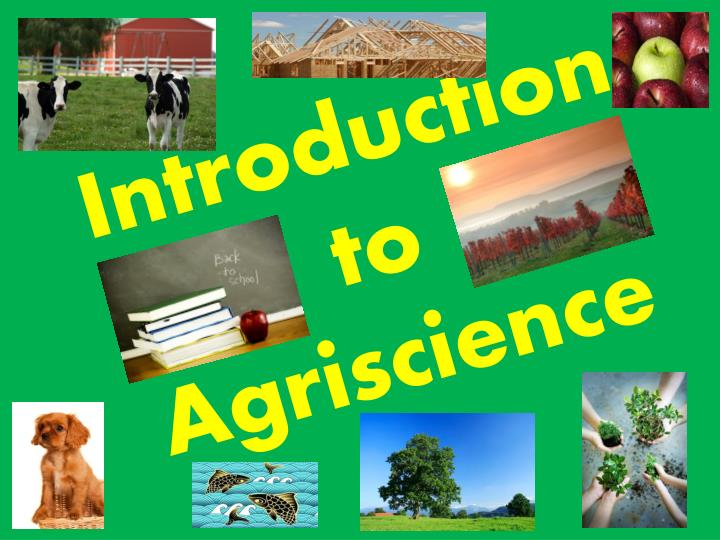 introduction to agriscience n.