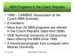 mba programs in the czech republic