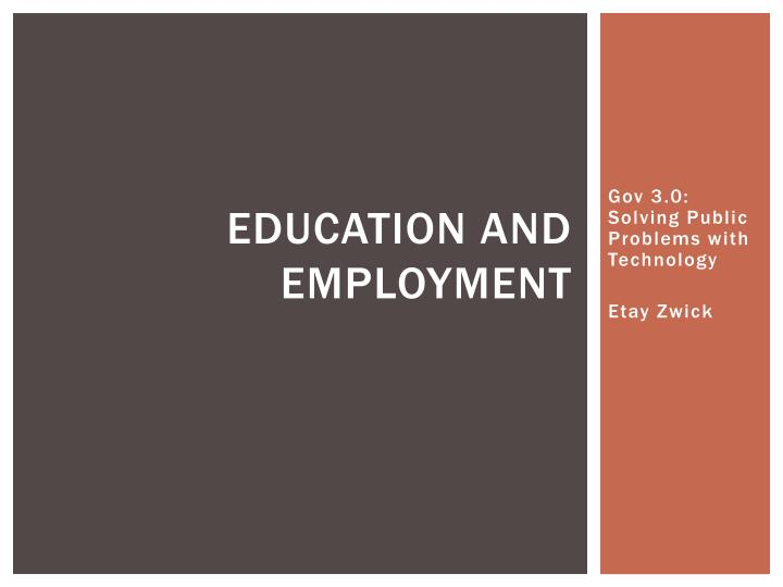 education and employment n.