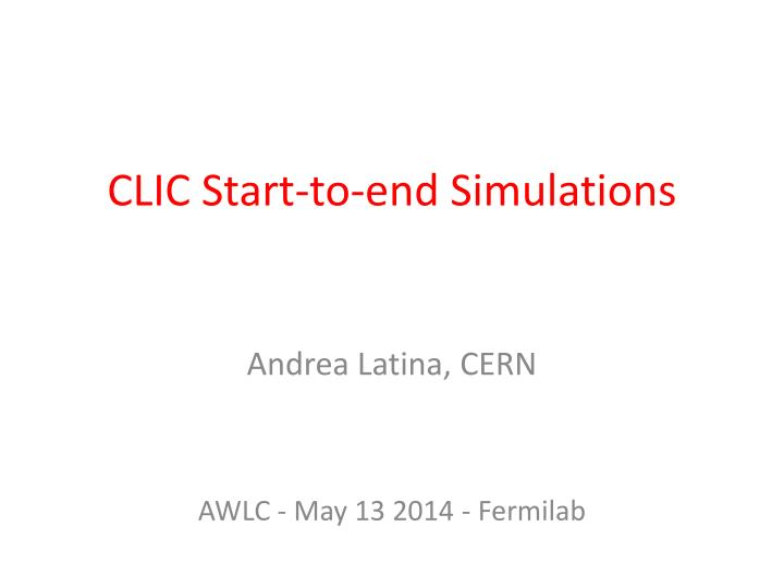 clic start to end simulations n.