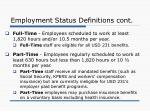 employment status definitions cont