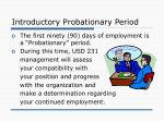 introductory probationary period