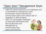 open door management style