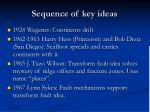 sequence of key ideas