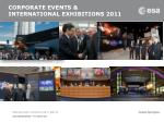 corporate events international exhibitions 2011