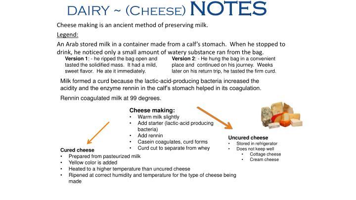 DAIRY ~ (Cheese)