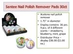 santee nail polish remover pads 30ct